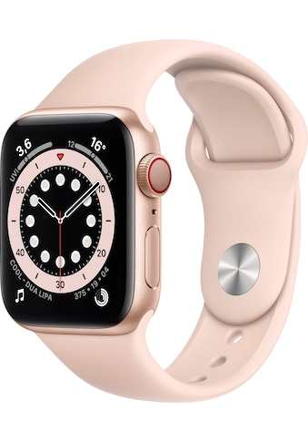 Apple Watch »Series 6 GPS + Cellular, Aluminiumgehäuse mit Sportarmband 40mm« (, Watch OS, inkl. Ladestation (magnetisches Ladekabel) kaufen