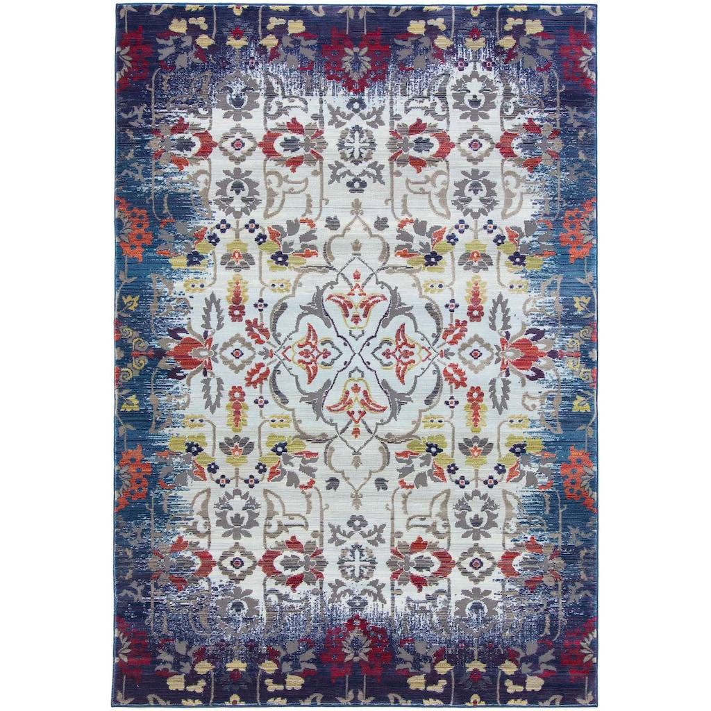 carpetfine Teppich »Lina«, rechteckig, 5 mm Höhe, floraler Orient-Vintage-Look, Wohnzimmer