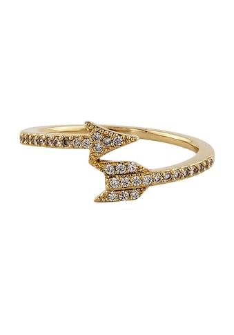 Buckley London Fingerring, Ring vergoldet mit Kristallen kaufen