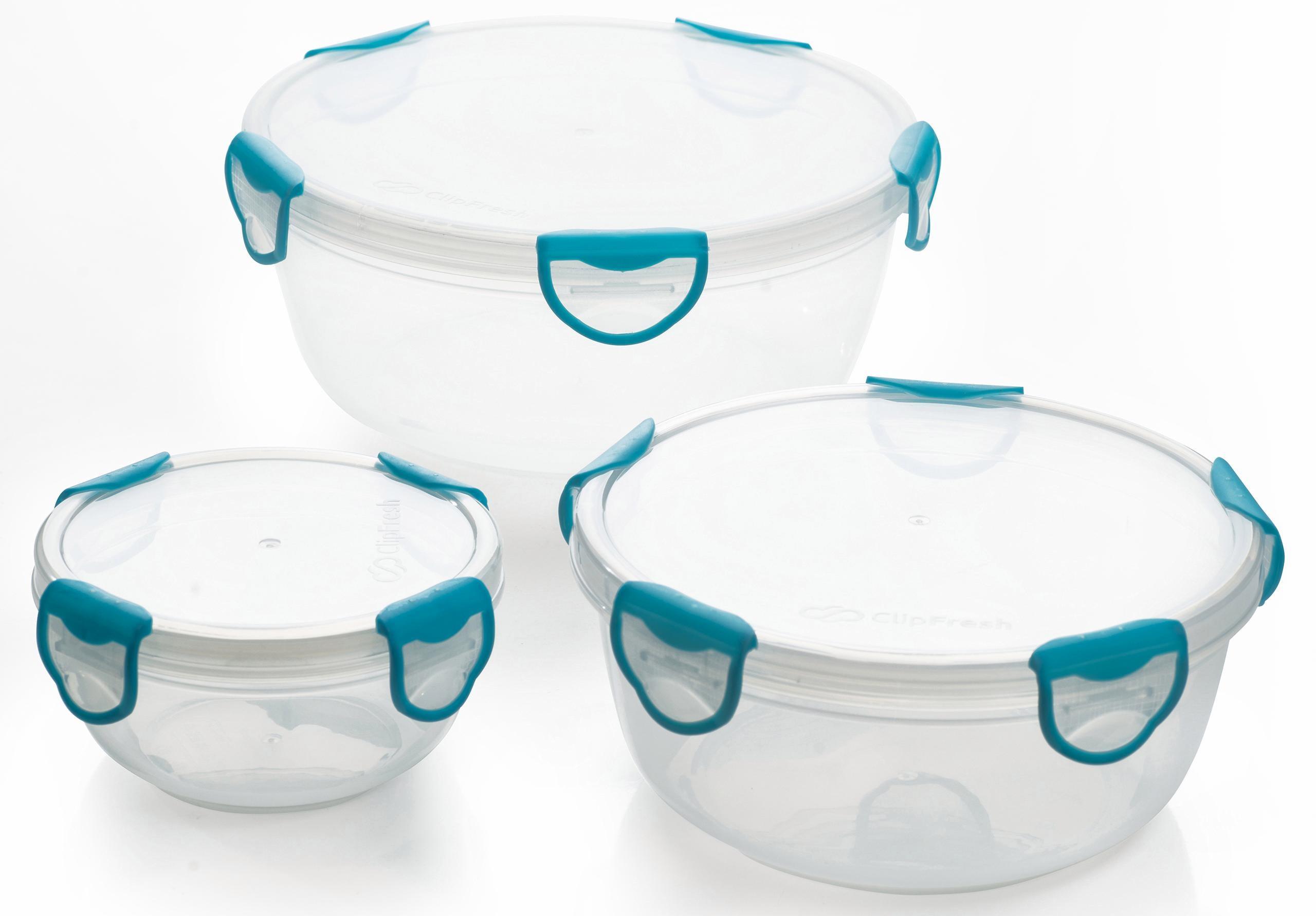 Genius Frischhaltedosen rund 3-teilig Clip Fresh | Küche und Esszimmer > Aufbewahrung > Vorratsdosen | Transparent | Genius