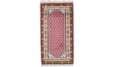 morgenland Wollteppich »Mir Teppich handgeknüpft rosa«, rechteckig, 10 mm Höhe kaufen