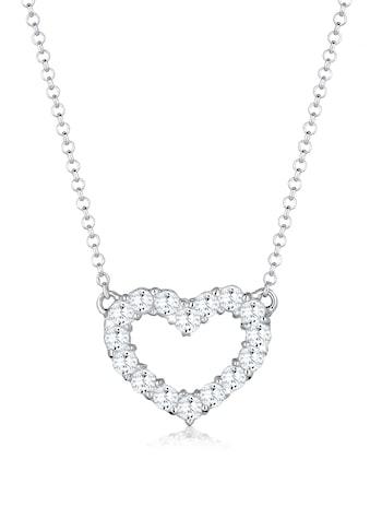 Elli Collierkettchen »Herz Zirkonia Kristall 925 Sterling Silber« kaufen