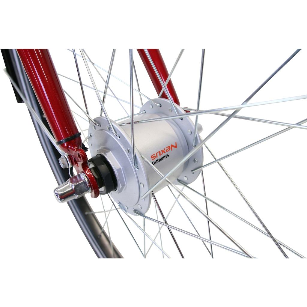 HAWK Bikes Trekkingrad »HAWK Citytrek Easy Red Gent«, 7 Gang, Shimano, Tourney Schaltwerk