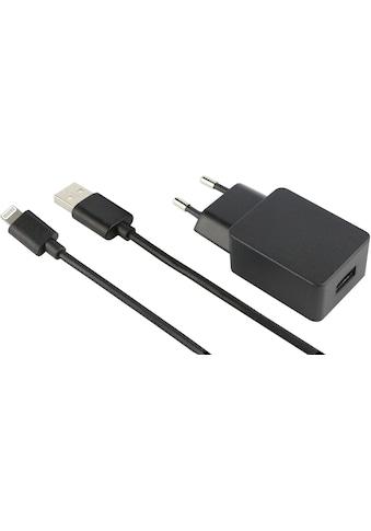 fontastic Lader »Reiseladeset Stecker+Kabel Lightning 2,4A 1m« kaufen