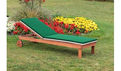 MERXX Gartenliege »Aktionsliege mit Auflage«, mit Auflagen, verstellbare Rückenlehne, Eukalyptusholz kaufen