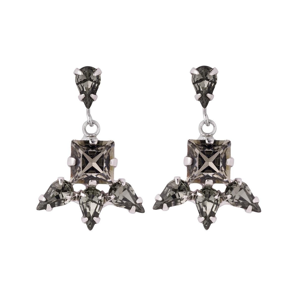 Pippa & Jean Paar Ohrhänger Set: PJ026, (2 tlg.), verziert mit Kristallen von Swarovski grün Damen Ohrringe Schmuck