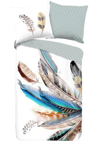 good morning Wendebettwäsche »Feather«, mit Federn kaufen