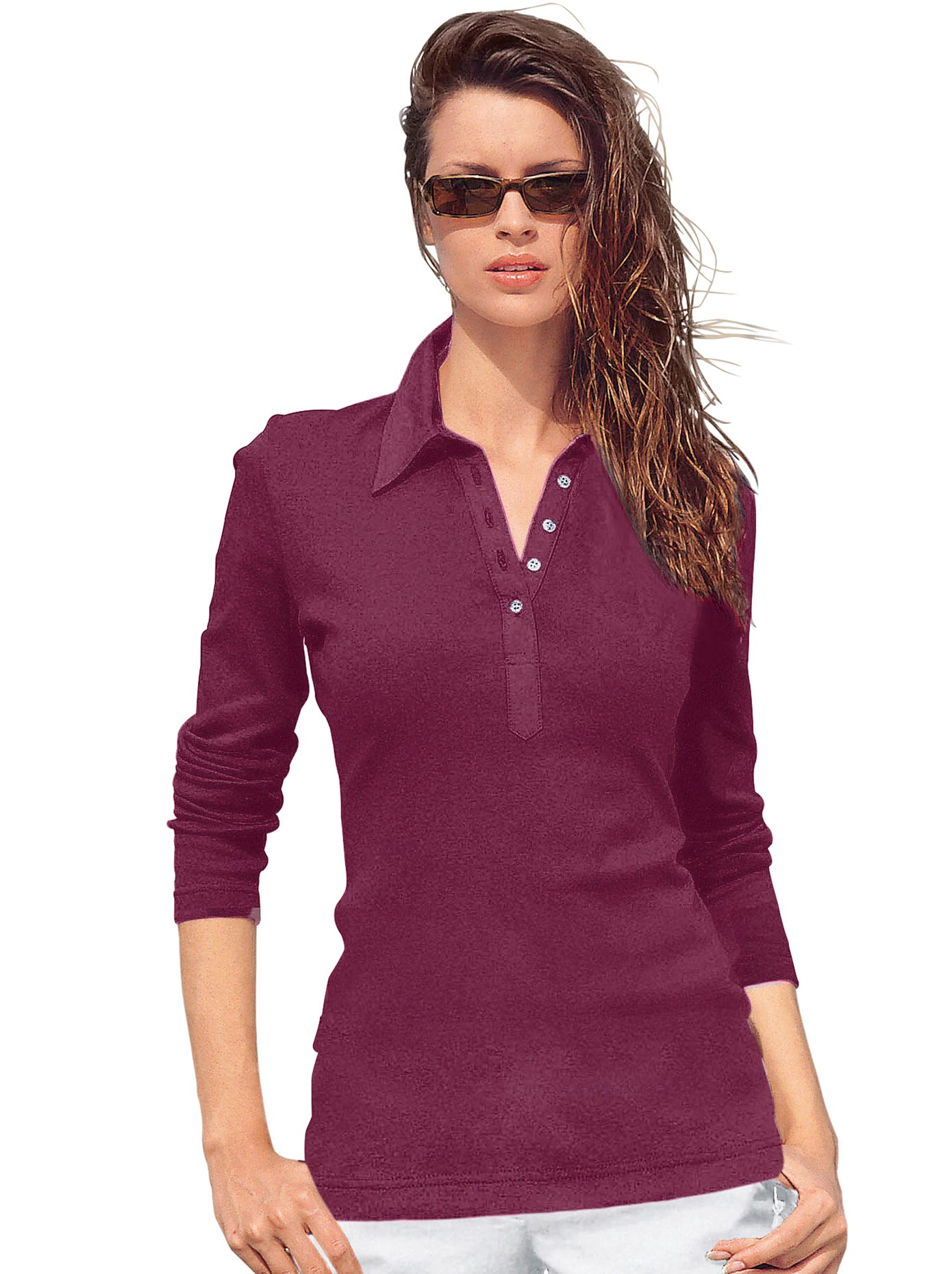 casual looks -  Poloshirt aus Baumwolle
