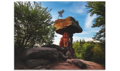 Artland Glasbild »Teufelstisch«, Felsen, (1 St.) kaufen
