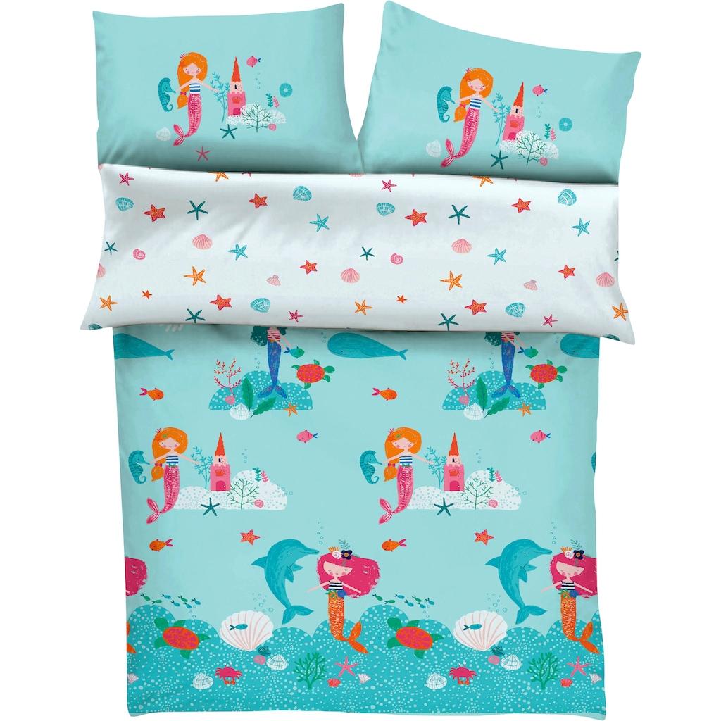 s.Oliver Junior Kinderbettwäsche »Meerjungfrau«, mit Meerjungfraumotiven