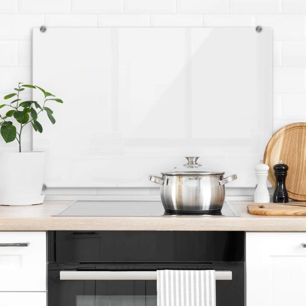 Wall-Art Herd-Abdeckplatte »Spritzschutz Küchenwand Weiß«, (1 tlg.)