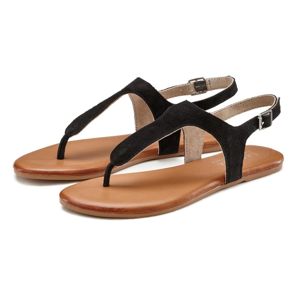 LASCANA Sandale, aus softem Leder