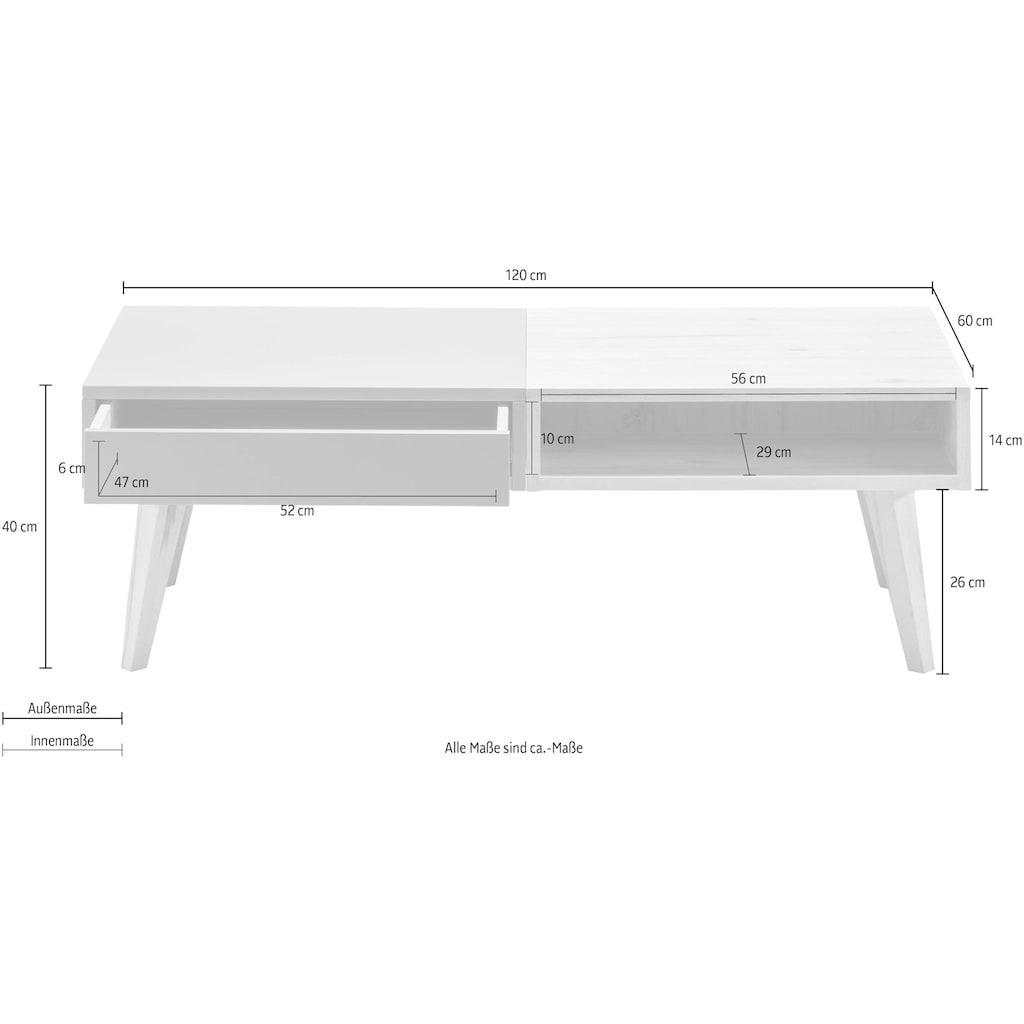 WHITEOAK GROUP Couchtisch »Lanzo«, mit Schublade, in hochwertiger Verarbeitung