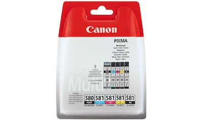 Canon »PGI - 580/CLI - 581 BK/CMYK Multi Pack 5 - farbig« Tintenpatrone kaufen