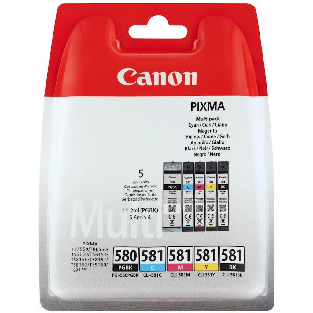 Canon Tintenpatrone »PGI-580/CLI-581 BK/CMYK Multi Pack 5-farbig«