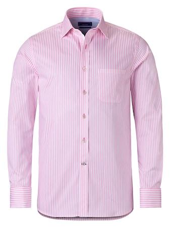 East Club London Langarmhemd mit edlem Streifenmuster kaufen