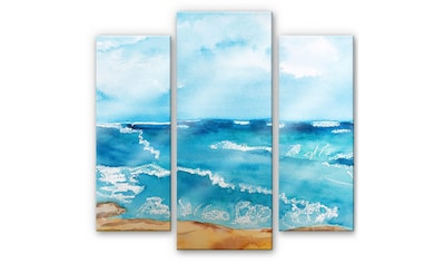 Wall-Art Mehrteilige Bilder »Meeresrausch Meer (3-teilig)«, (Set, 3 St.) kaufen