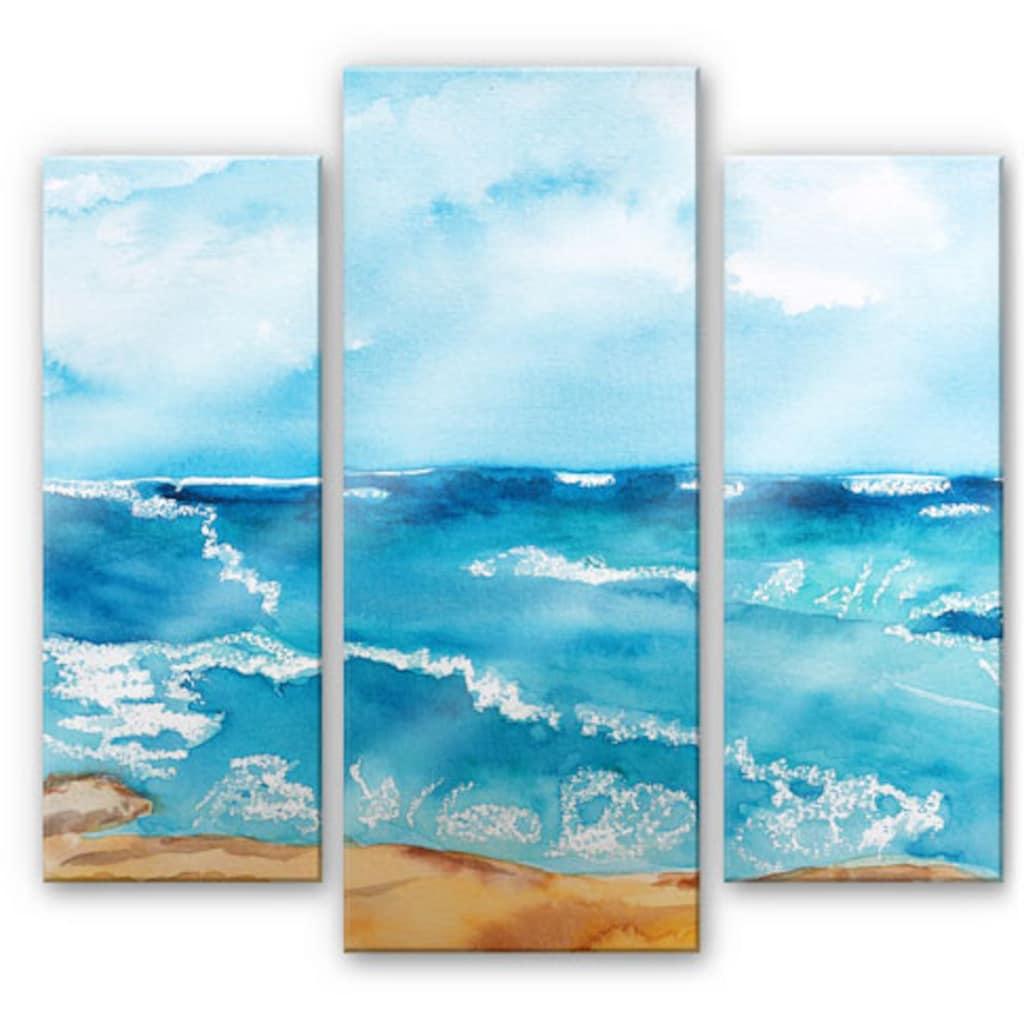 Wall-Art Mehrteilige Bilder »Meeresrausch Meer (3-teilig)«, (Set, 3 St.)