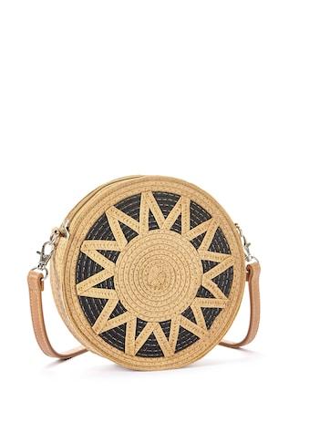 LASCANA Umhängetasche, Kleine Strandtasche, Minibag in modischer Bastoptik und runder... kaufen