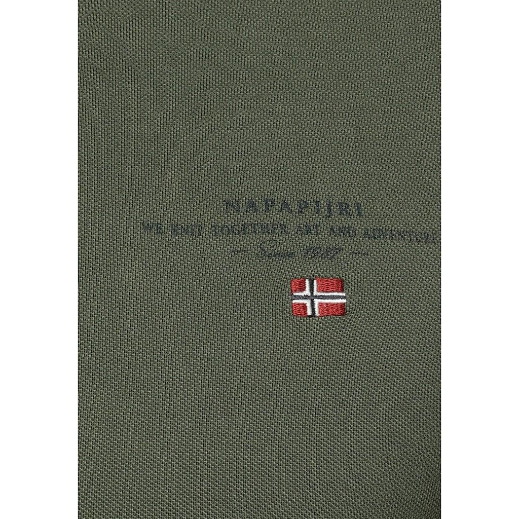 Napapijri Poloshirt »ELBAS«, mit Logostickerei