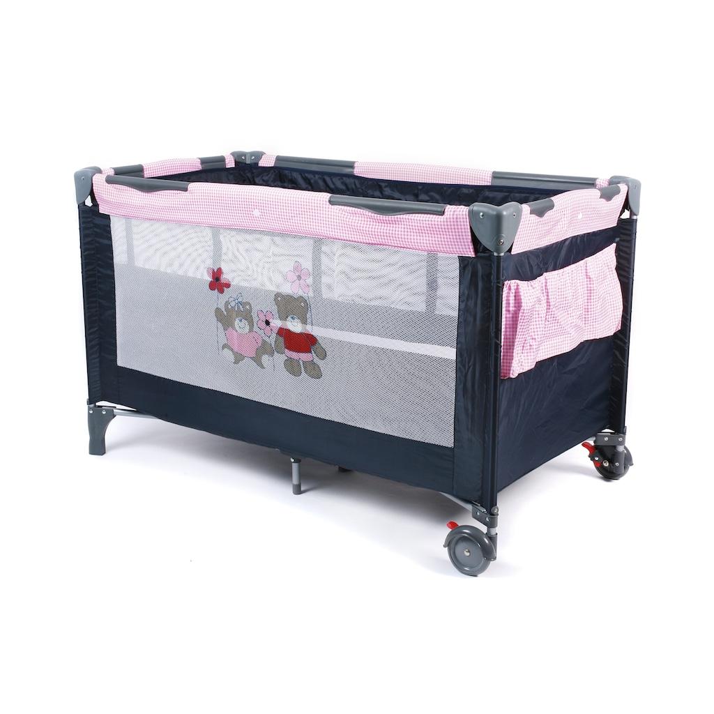 CHIC4BABY Baby-Reisebett »Luxus Pink Checker«, inkl. Tragetasche