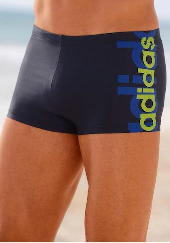 adidas Performance Boxer-Badehose, mit großem Logoschriftzug kaufen