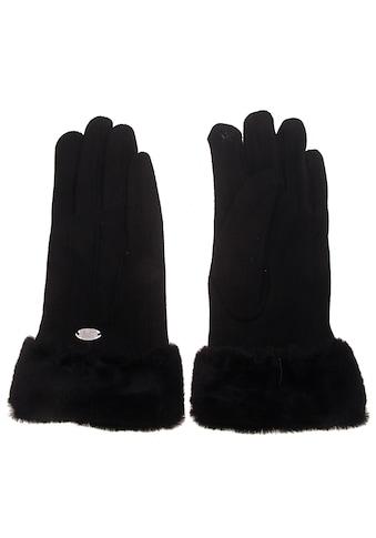 leslii Fingerhandschuhe mit kuscheligem Kunstfellbesatz kaufen