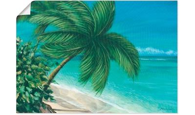 Artland Wandbild »Tropischer Strand«, Strand, (1 St.), in vielen Größen & Produktarten - Alubild / Outdoorbild für den Außenbereich, Leinwandbild, Poster, Wandaufkleber / Wandtattoo auch für Badezimmer geeignet kaufen