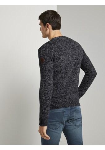 TOM TAILOR Strickpullover »Weicher Pullover in Mélange - Optik« kaufen
