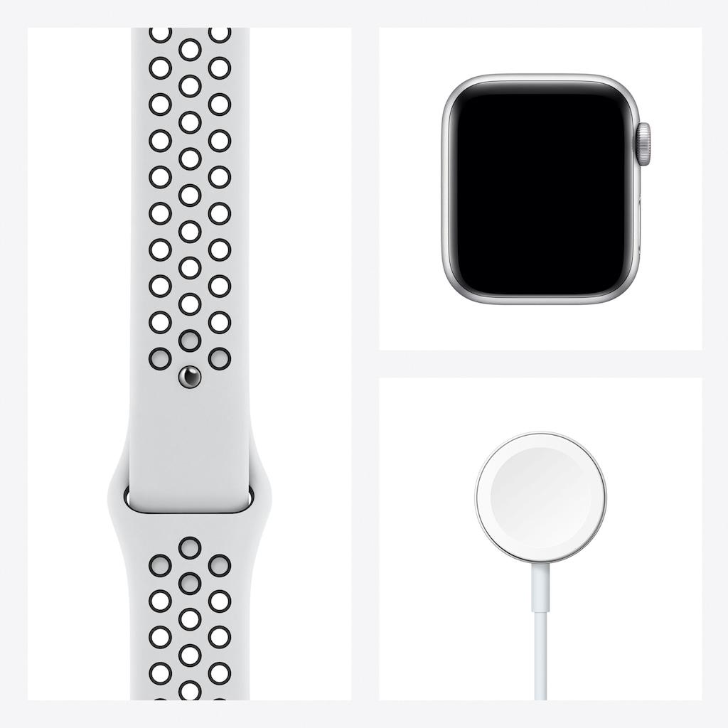 Apple Watch »Nike SE GPS + Cellular, Aluminiumgehäuse mit Nike Sportarmband 40mm«, (inkl. Ladestation (magnetisches Ladekabel)