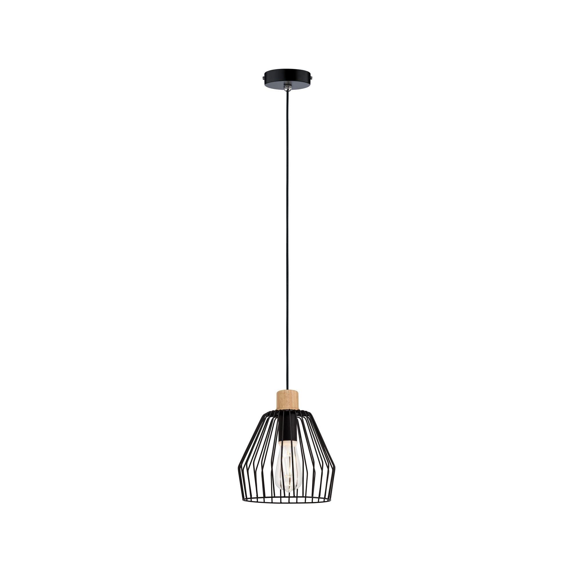 Paulmann LED Pendelleuchte Cameo Holz/Schwarz max. 20W E27, E27, 1 St.