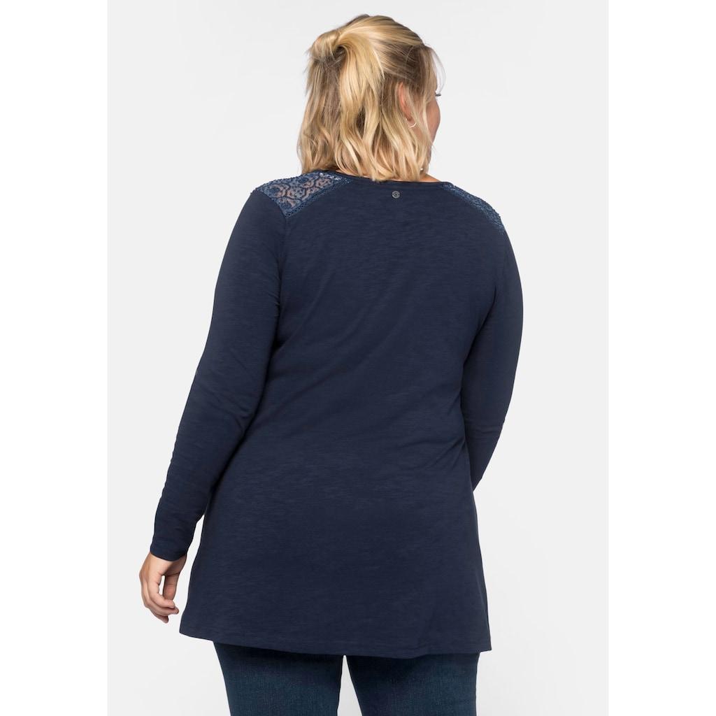 Sheego Longshirt, in weit ausgestellter A-Linien-Form