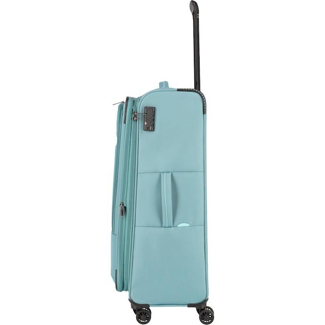 "travelite Weichgepäck-Trolley ""Arona, 77 cm, aqua"", 4 Rollen"
