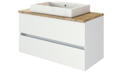 HELD MÖBEL Waschtisch »Livorno Waschtisch 100«, mit 2 Schubladen, Keramik kaufen