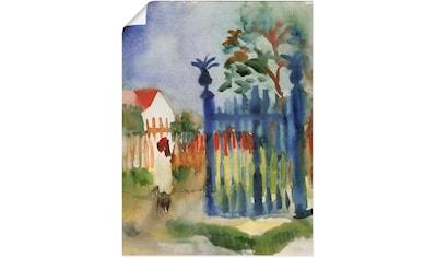 Artland Wandbild »Gartentor. 1914«, Garten, (1 St.), in vielen Größen & Produktarten... kaufen