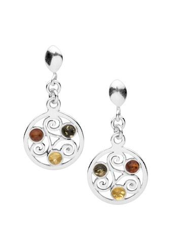 OSTSEE-SCHMUCK Paar Ohrhänger »- Keltische Fibel - Silber 925/000 - Bernstein«, (2 tlg.) kaufen