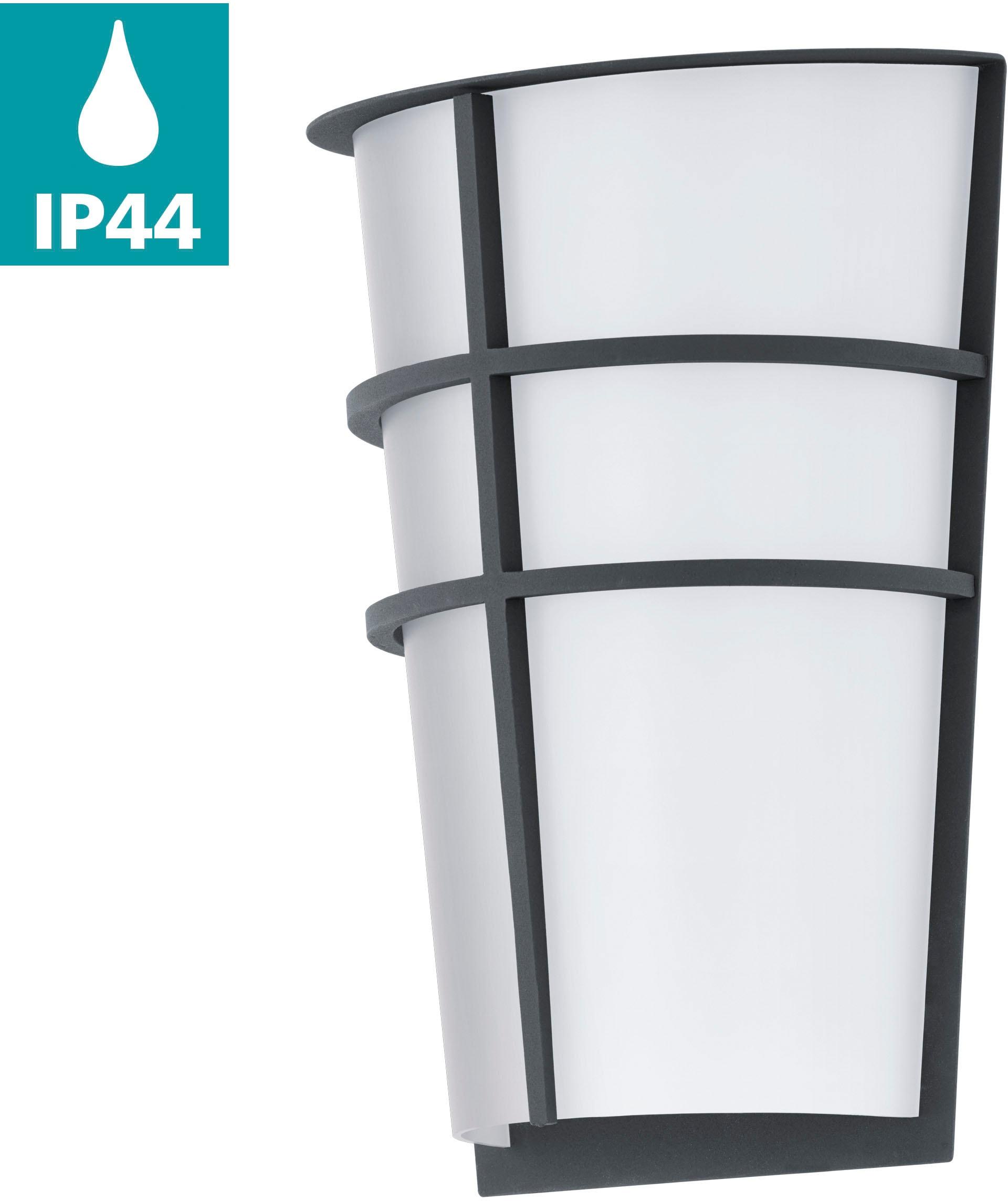 EGLO LED Außen-Wandleuchte BREGANZOP, LED-Board, Warmweiß, Eckmontage möglich, LED tauschbar