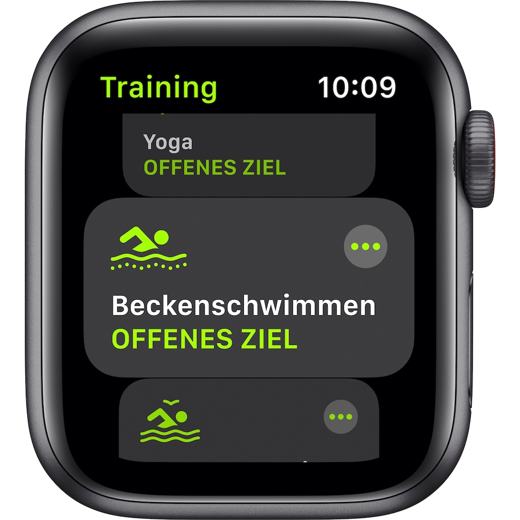 Apple Watch »SE GPS + Cellular, Aluminiumgehäuse mit Sportarmband 40mm«, (inkl. Ladestation (magnetisches Ladekabel)