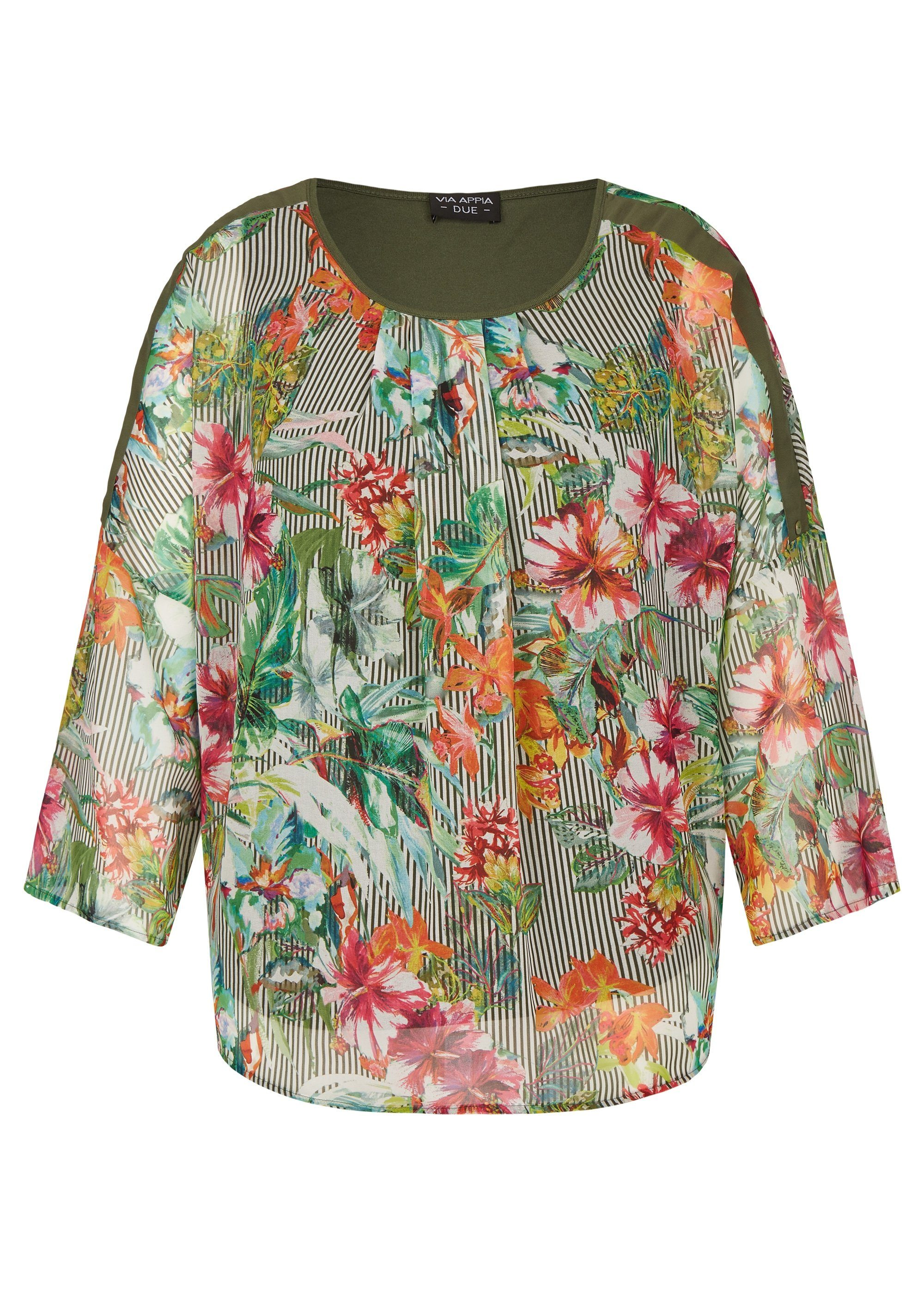VIA APPIA DUE Sommerliche Bluse mit exotischem Print