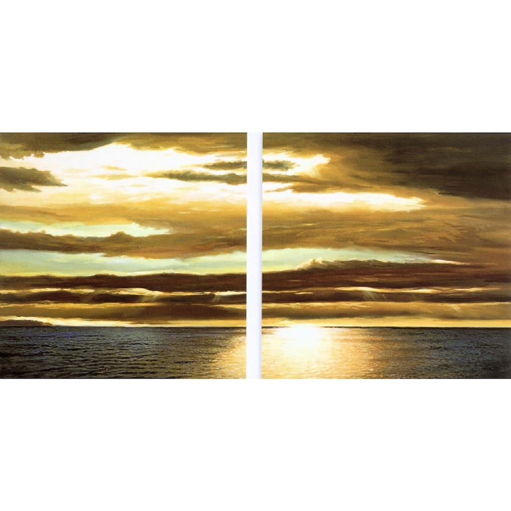 Home affaire Kunstdruck »DAN WERNER, Reflection on the sea I,II«, (Set, 2 St.)