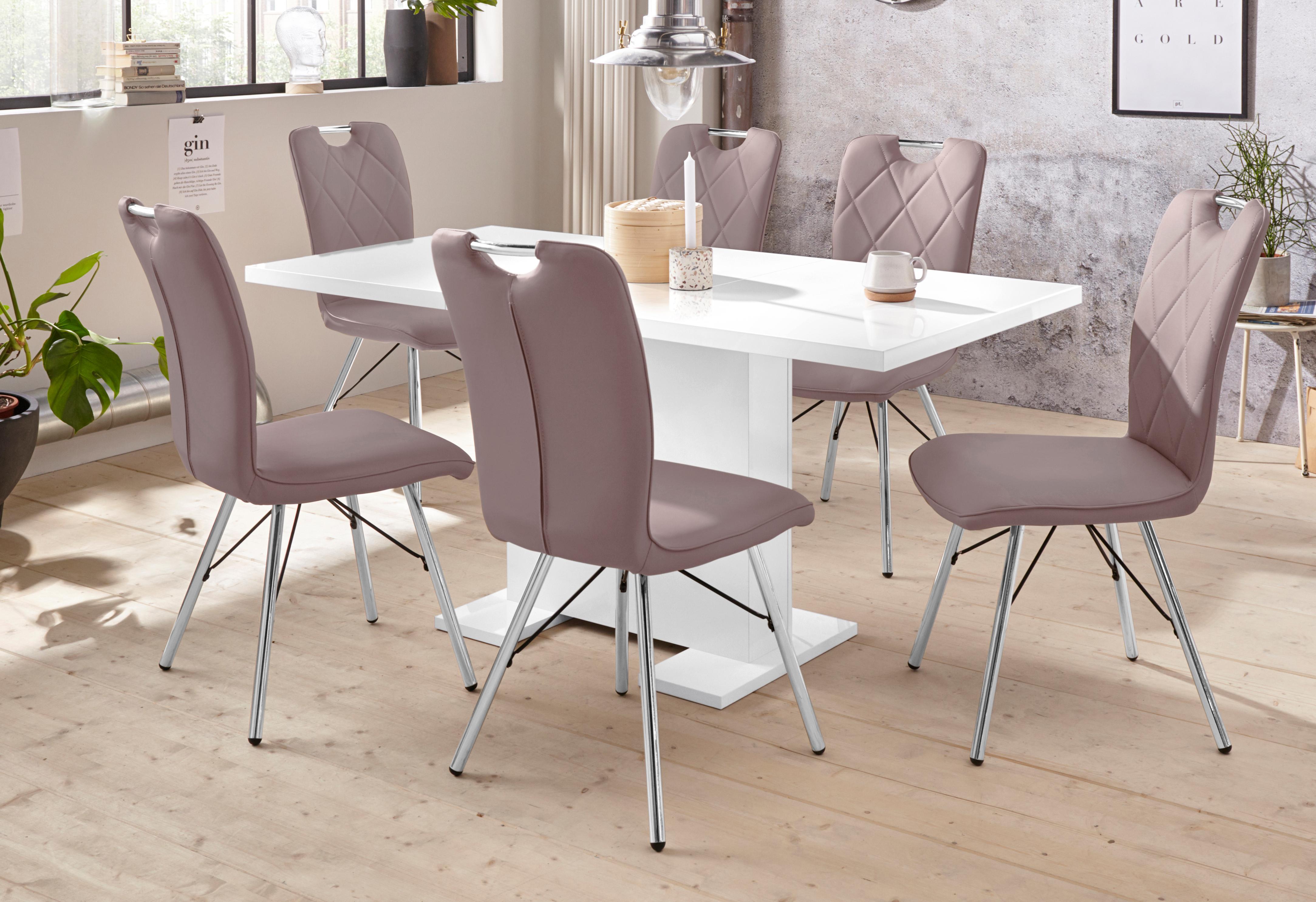 Essgruppe CLEO G bestehend aus einem Tisch und 4 Stühlen (5-tlg)
