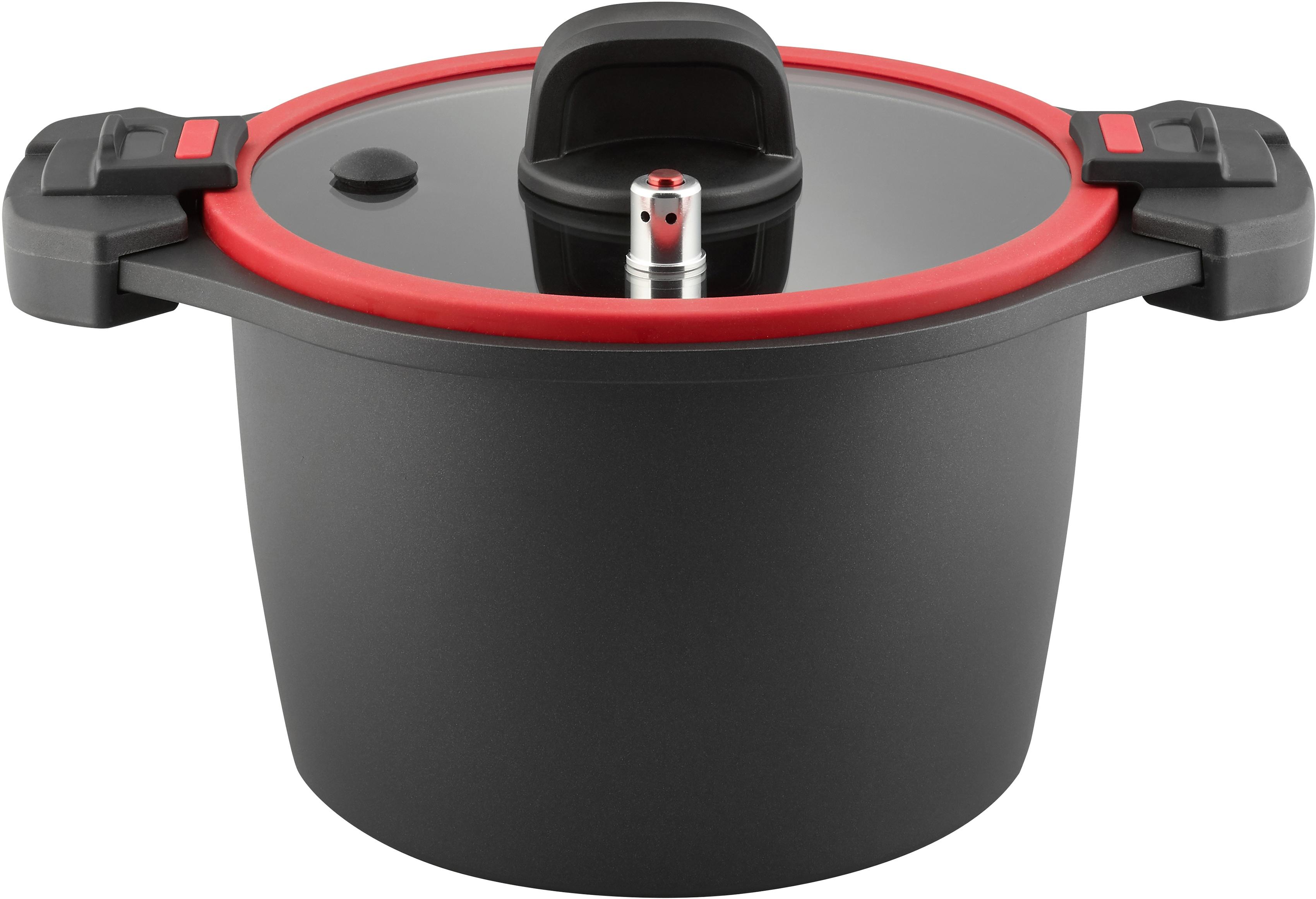 Elo Dampfgartopf, Aluminiumguss, Ø 24 cm, 6 Liter, Induktion schwarz Töpfe Dampfgartopf