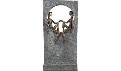 Casablanca by Gilde Dekofigur »Skulptur Round Place, bronzefarben/grau«, Dekoobjekt,... kaufen