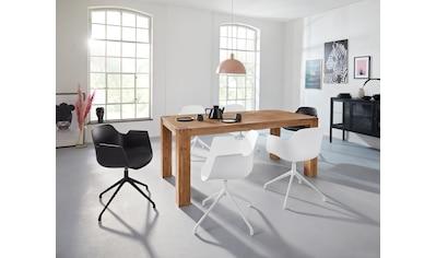INOSIGN Drehstuhl »Banu«, 2er Set, mit einer pflegeleichten Sitzschale und einem Kunstleder Sitzkissen, Sitzhöhe 43 cm kaufen