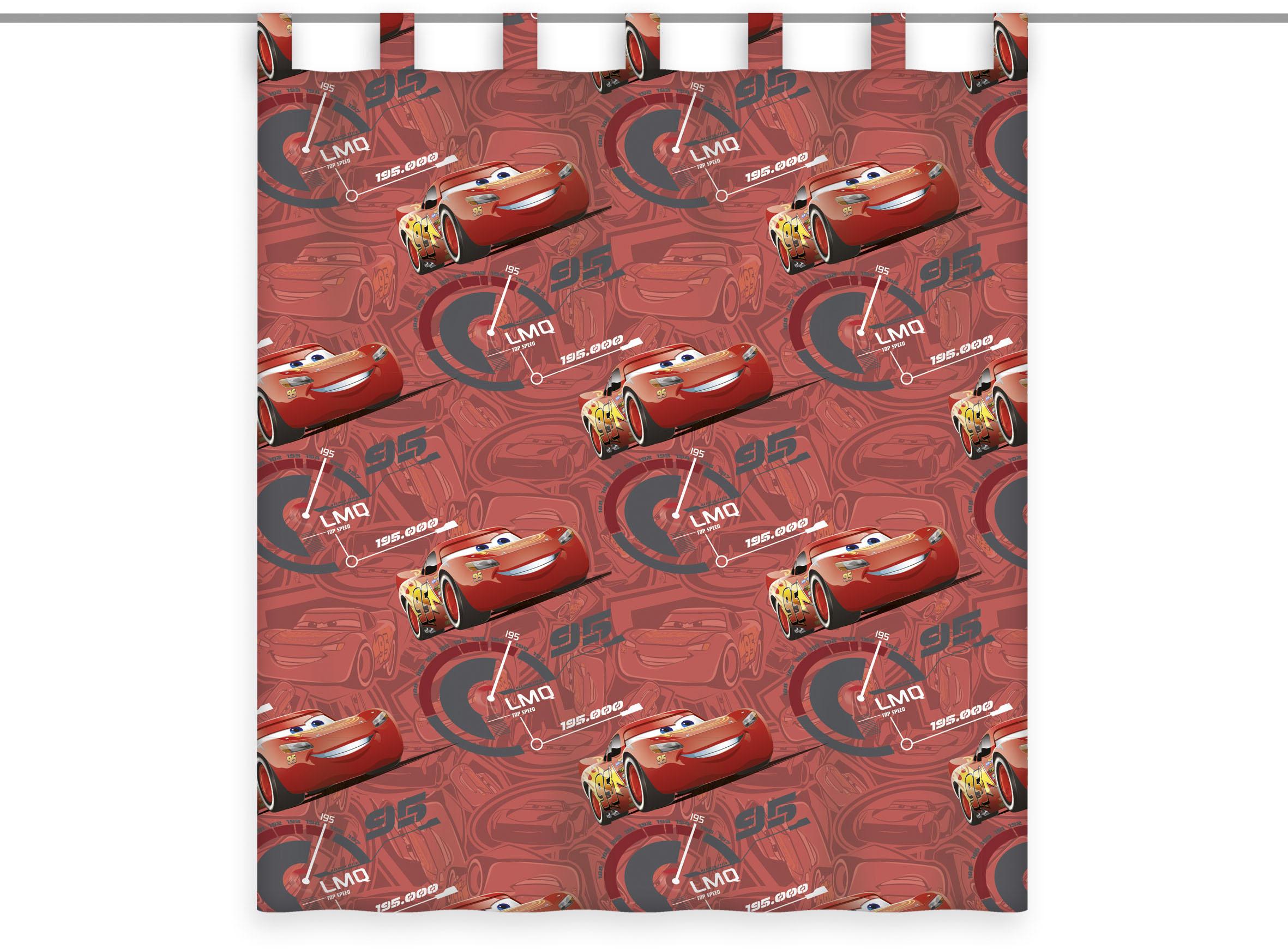 Disney Cars 3 Vorhang Disney's 3, Disney´s rot Übergardinen Gardinen Vorhänge