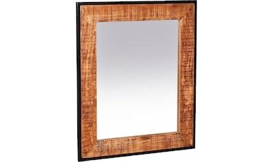 SIT Wandspiegel, Rahmen aus massivem Mangoholz und Metall kaufen