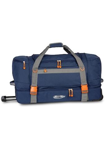 fabrizio® Reisetasche »Bestway Rollenreisetasche XXL, blau« kaufen