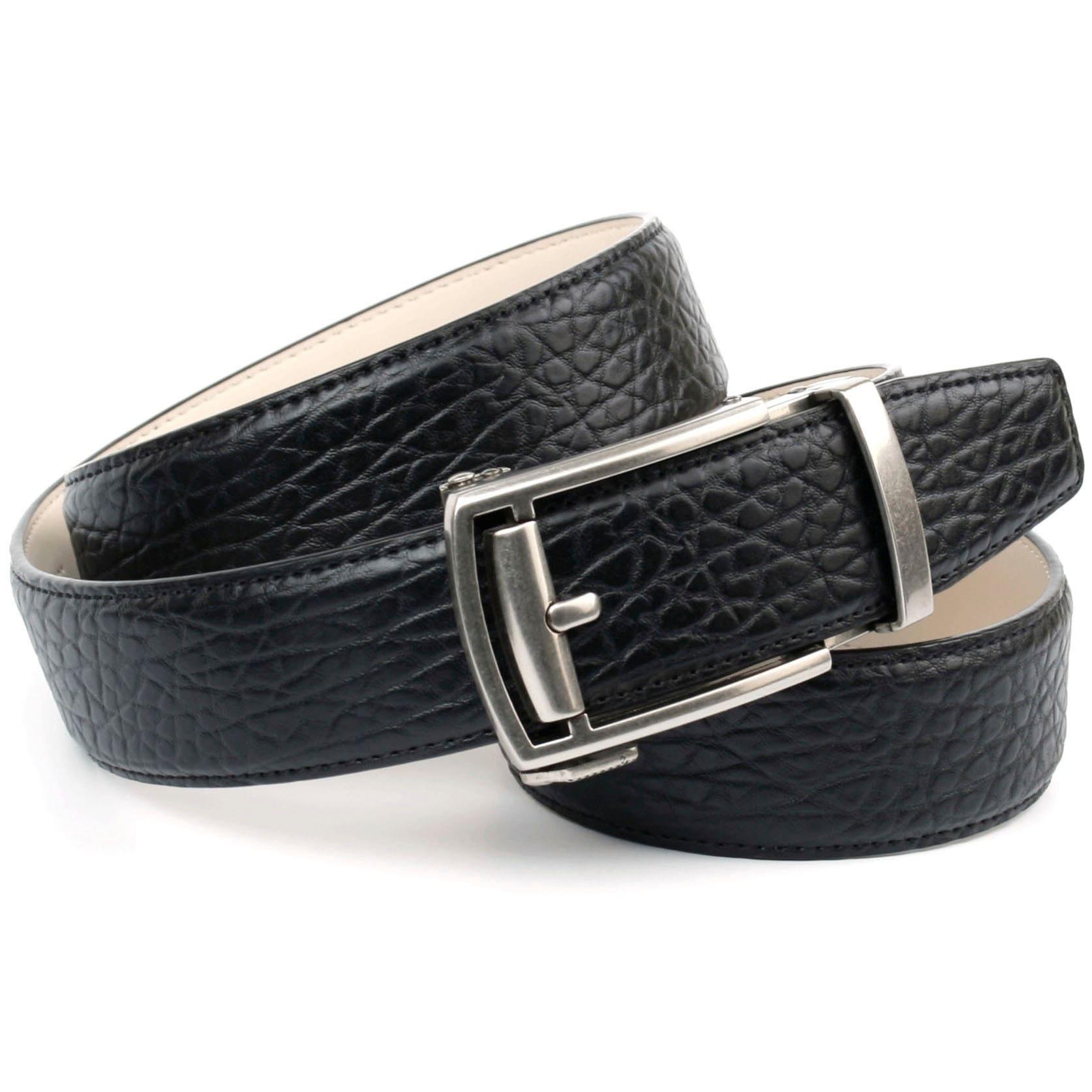 Anthoni Crown Ledergürtel, Automatikgürtel in schwarz Damen Ledergürtel Gürtel Accessoires