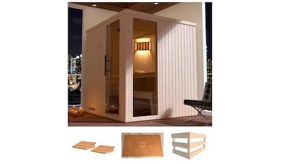 WEKA Sauna »Halmstad 2«, 194x177x199 cm, ohne Ofen, Glastür und Fenster kaufen