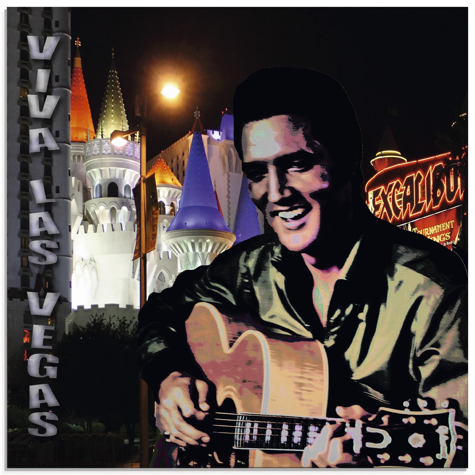 Artland Glasbild Elvis Presley, (1 St.) bunt Glasbilder Bilder Bilderrahmen Wohnaccessoires